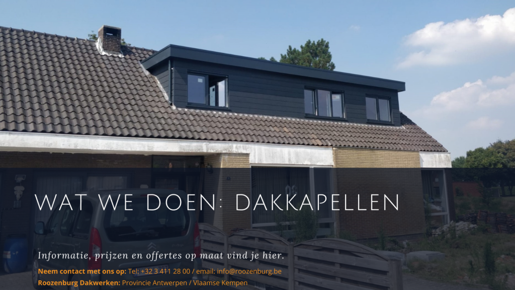 Roozenburg Dakwerken - Wat we doen: Dakkapellen